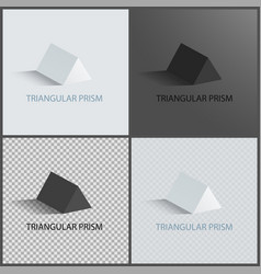 triangular prism collection vector image