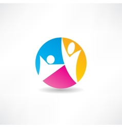 Unity of the people icon vector