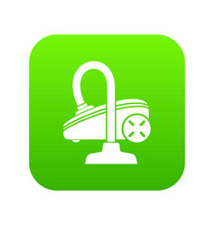 vacuum cleaner icon green vector image
