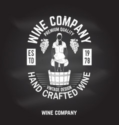 Wine company badge sign or label vector