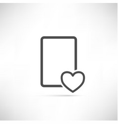 Wish List Icon Heart Empty vector image