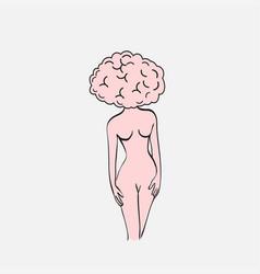 woman brain brain like woman vector image