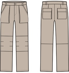 Work pants Front and back vector image