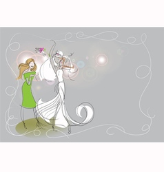 bride bouquet vector image