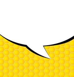comic speech on yellow vector image vector image