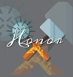 fantasy cartoon style game design medieval vector image vector image