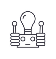innovation line icon sign on vector image