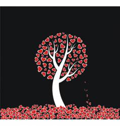 love tree with dead leaves vector image vector image
