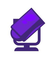 purple colored searchlight vector image vector image