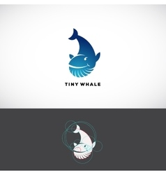 Tiny Whale Abstract Logo Template Flat vector image