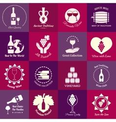 Wine emblems set vector image
