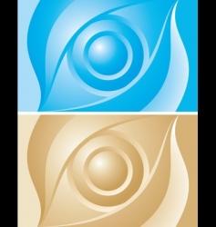 background eye vector image