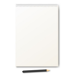 clean drawing album with a pencil vector image