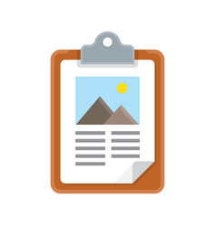 clipboard icon with flat design vector image vector image