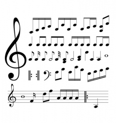 musical signs note vector image