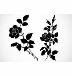 rose stem ornaments vector image vector image