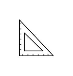 Square ruler icon vector