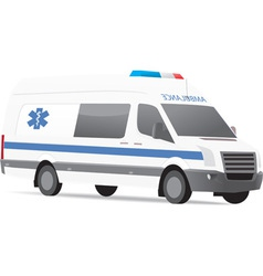 Ambulance van vector image