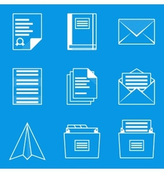 Blueprint icon set Paper 2 vector image