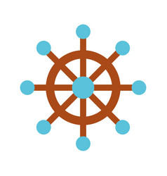 boat timon isolated icon vector image vector image