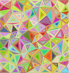 Happy color irregular triangle mosaic background vector image