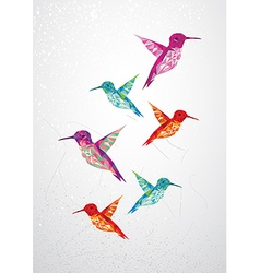 Beautiful humming birds vector image