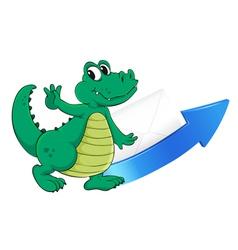 crocodile arrow and envelop vector image vector image