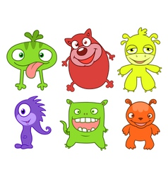 Cute monsters set two vector image