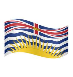 flag of british columbia waving white background vector image