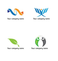 Life-and-green-logo vector image vector image