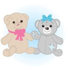 Teddy bears couple vector image