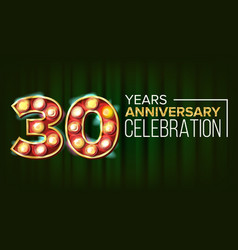 30 years anniversary banner thirty vector