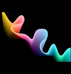 Abstract design background with rainbow flowing vector