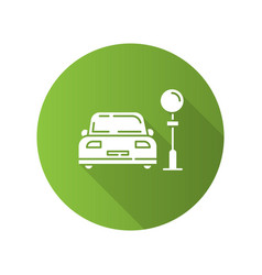 assigned car parking zone green flat design long vector image