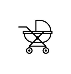 baby carriage icon stock of transportation vector image