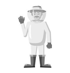Beekeeper icon gray monochrome style vector image