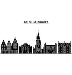 Belgium bruges architecture city skyline vector