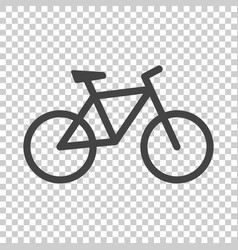 bike icon on isolated background bicycle in flat vector image