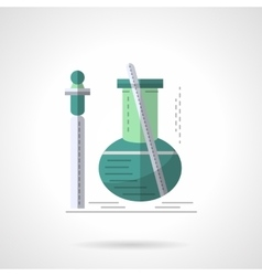 Biochemistry research flat color icon vector image