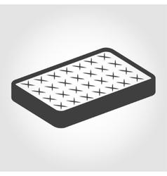 Black mattress icon vector