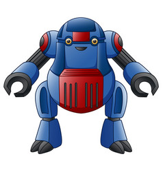 blue robot character isolated on white background vector image