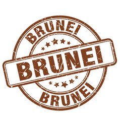 Brunei brown grunge round vintage rubber stamp vector