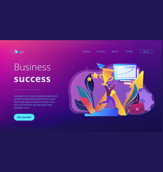 Business success concept landing page vector