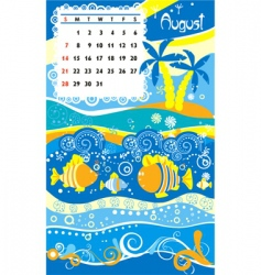 Calendar august vector