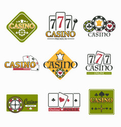 casino club and gambling isolated icon poker and vector image