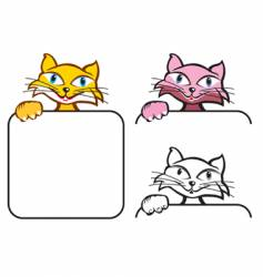 Cat and paw vector