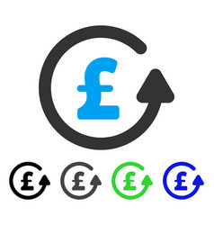 Chargeback pound flat icon vector