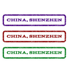 China shenzhen watermark stamp vector