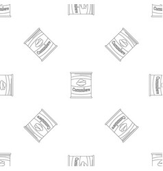 cucumbers tin can pattern seamless vector image
