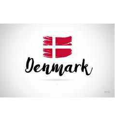 Denmark country flag concept with grunge design vector
